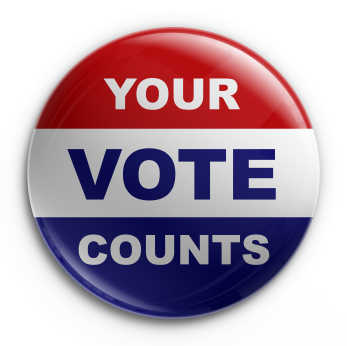 """Your Vote Counts"" button"